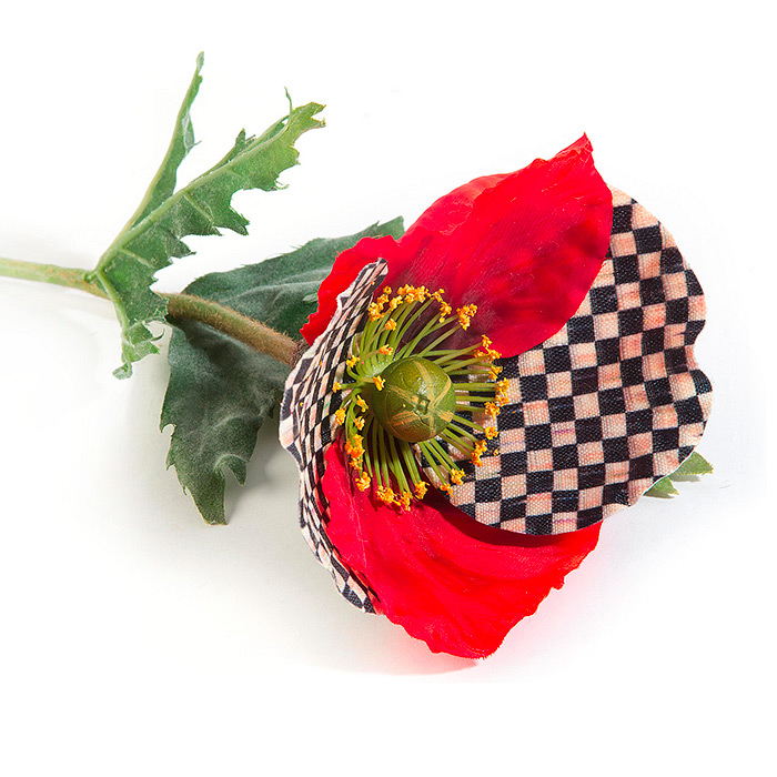 Courtly Check Poppy - Red
