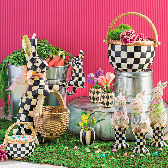 Courtly Check Easter Collection, Courtly Check Basket - Large