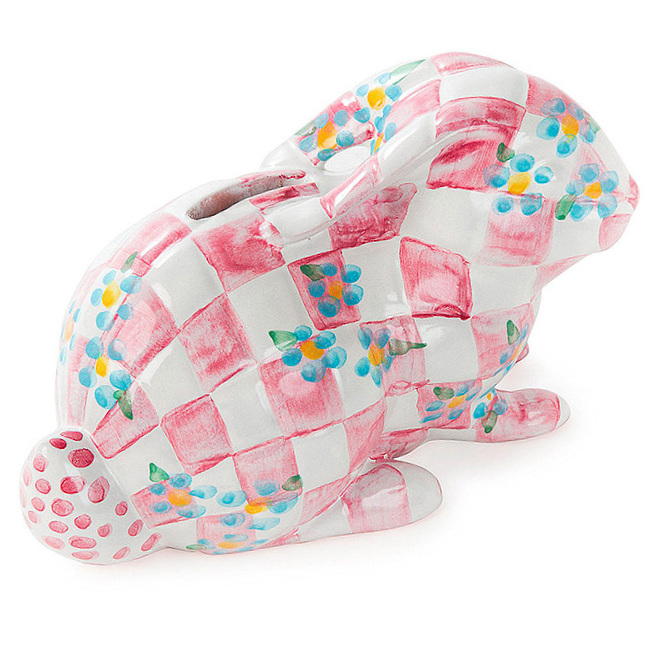 Quilted Bunny Bank - Pink