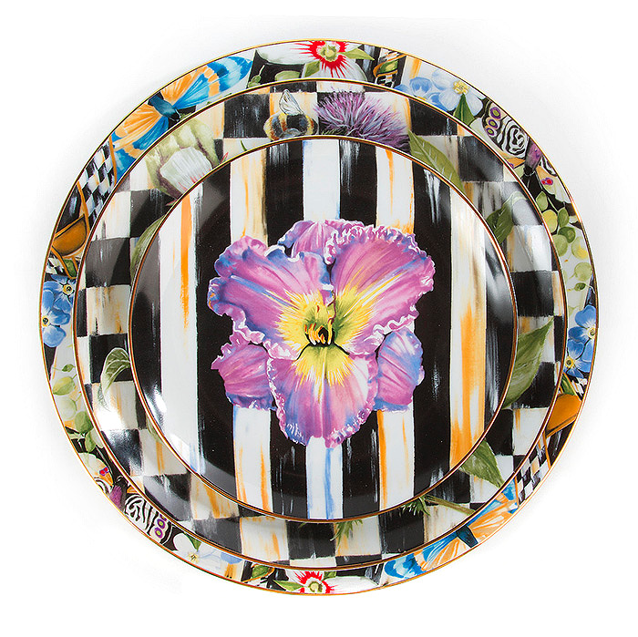 Thistle & Bee Salad Plate - Iris