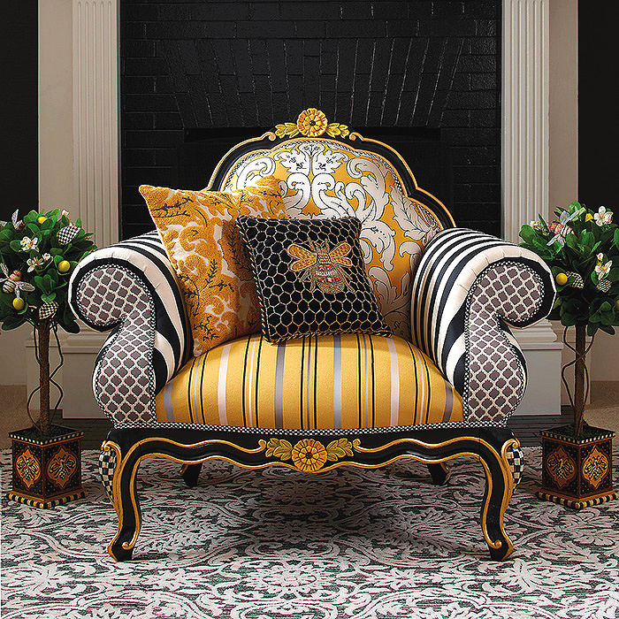 Queen Bee Chair, Queen Bee Pillow & Queen Bee Lemon Tree