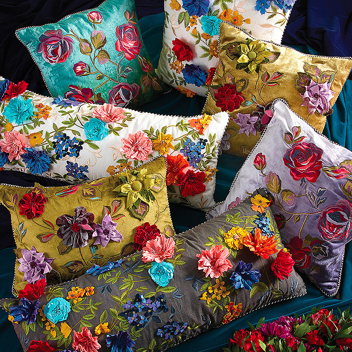 Covent Garden & Greengage Floral Pillows