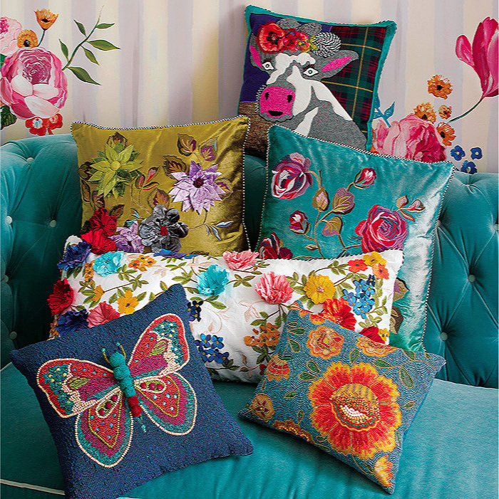 Boheme Butterfly Pillow & Shalimar Lumbar Pillow