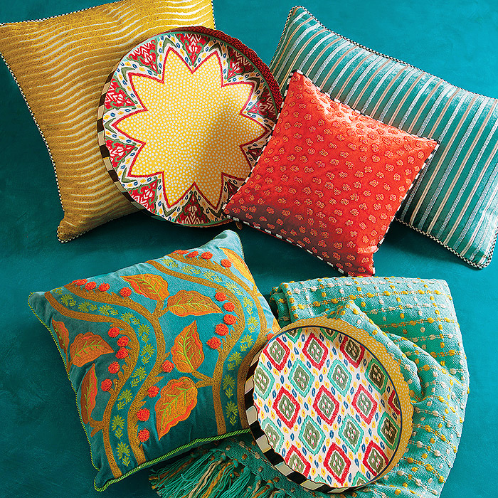 Agra Pillow & Boheme Tray