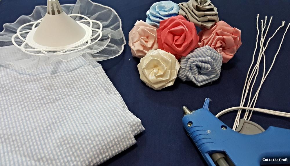 DIY Fabric Flower Wedding Bouquet Tutorial Part II Cut to the Craft