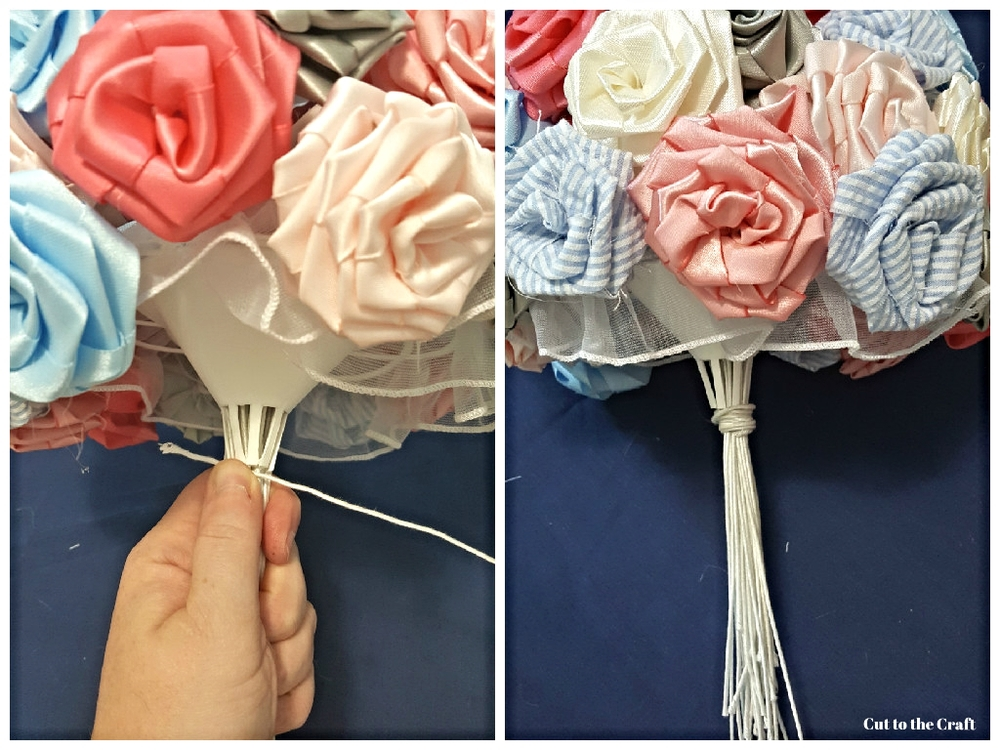 DIY Fabric Flower Wedding Bouquet Tutorial: Part II — Cut to the Craft