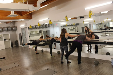 Us trying out Xtend Barre