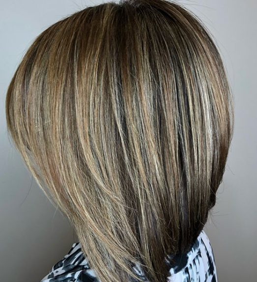 Hair colour and highlights by Sandy