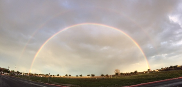 It was actually almost a triple rainbow