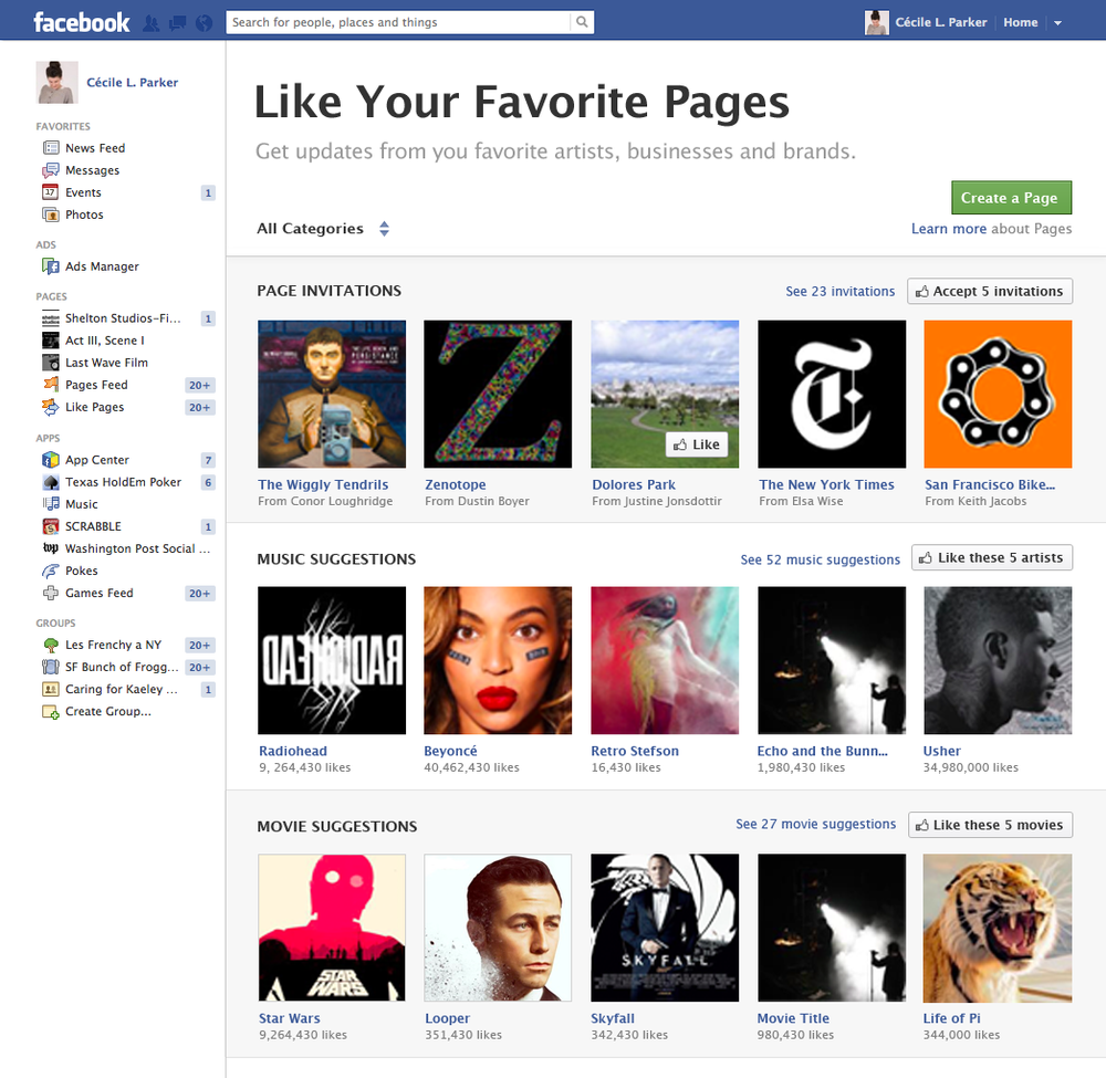 A page about pages