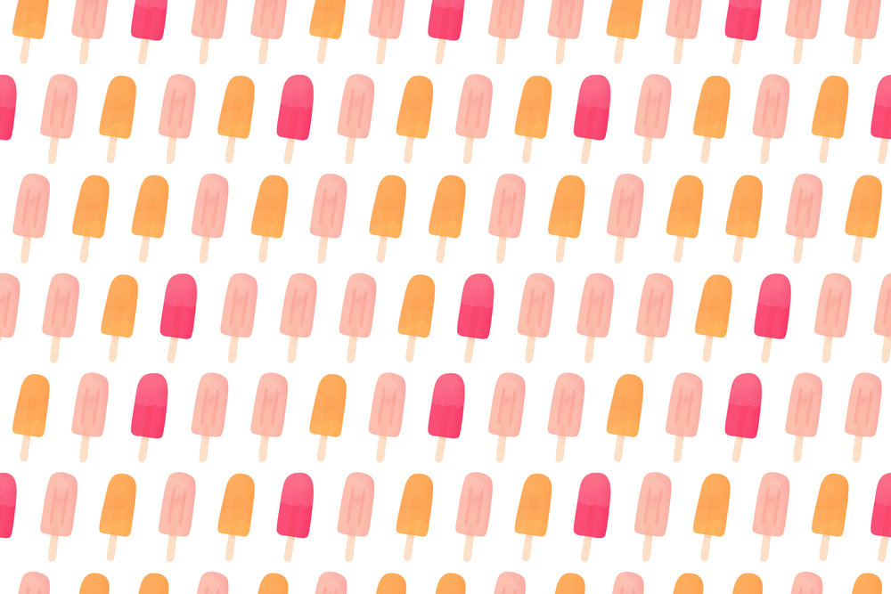 popsicles repeat pattern by Cecile Parker