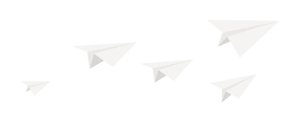 paper planes illustration