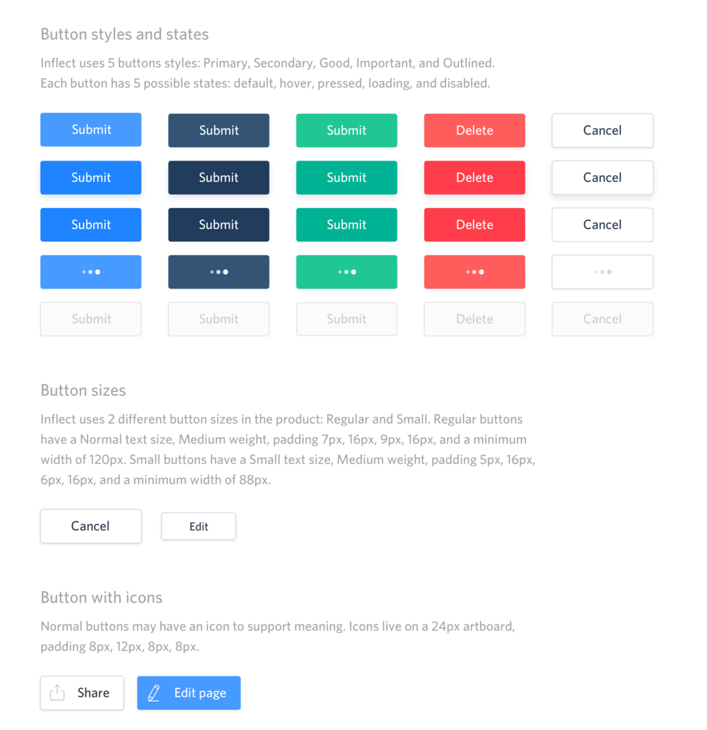 Inflect buttons – UI guidelines by Cécile Parker