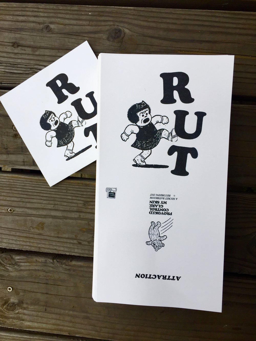 Riso is back to black - Another print job for local record label Digital Regress. Attraction by Santa Rosa hardcore crew RUT is due out shortly. Head to www.digitalregress.com for orders, streaming, and more.