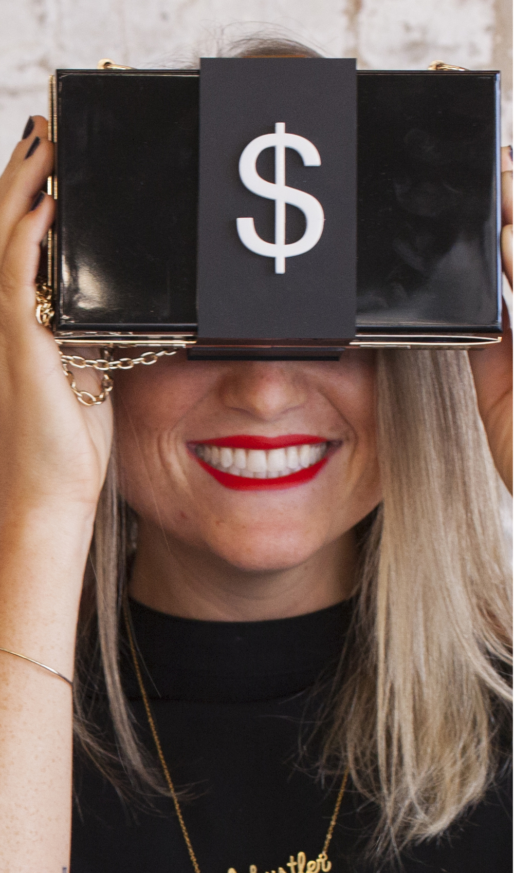 Katie Corcoran modeling the Money Bag in the Two Eggs Slow n' Steady lookbook. Photo by Higor Bastos.