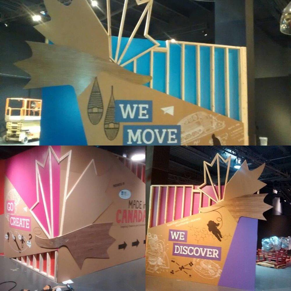 Custom Maple leaf Exhibit  Science World British Columbia