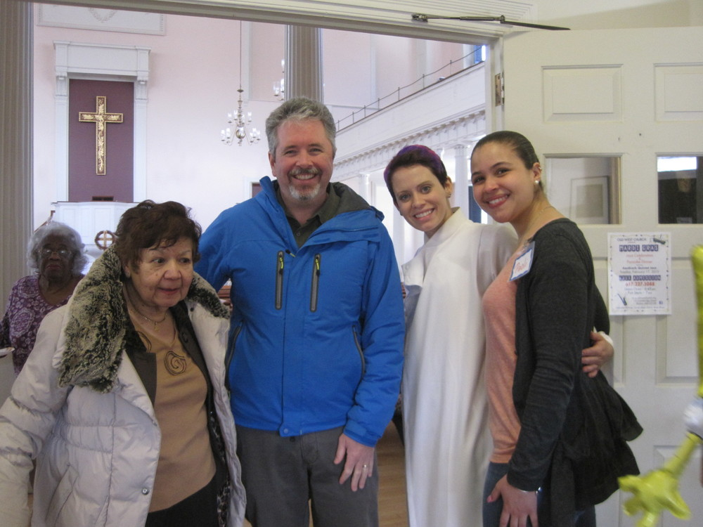 Caridad, Patrick,  Sara and Paoli at Sunday's party.
