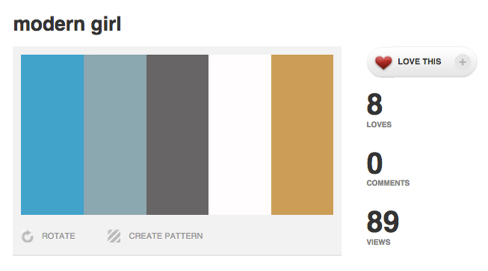example color palette on Colourlovers.com