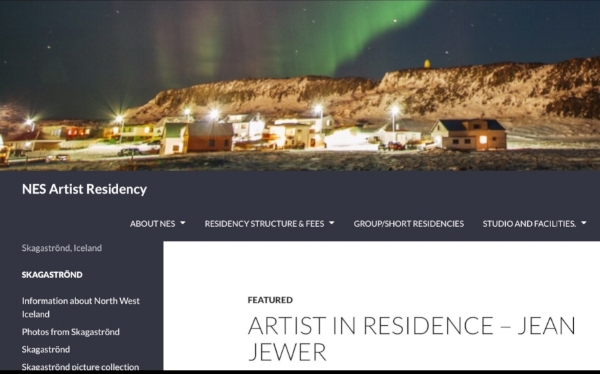 ARTIST IN RESIDENCE IN ICELAND      JULY 2017