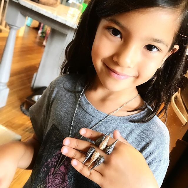 My favorite little jewelry model ✨💖✨ #socute #jewelry #rings #wearyourwings
