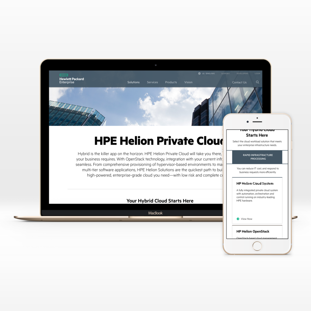 HPE.com   UX + Web + Mobile + UI + Content Strategy