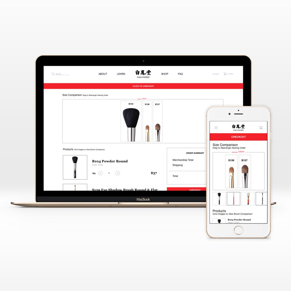 HakuhodoUSA.com   UI + Interaction Design + eCommerce
