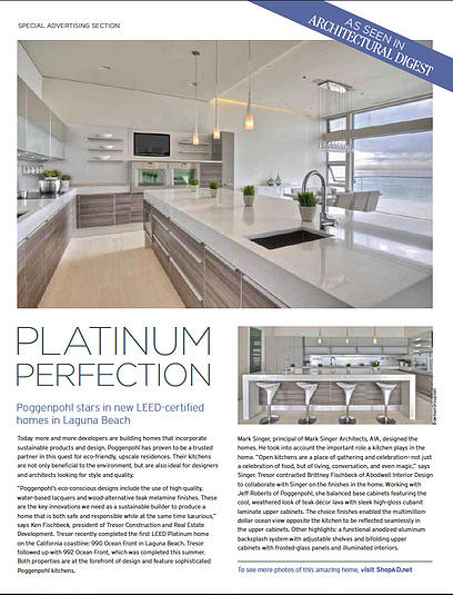 990 Oceanfront first LEED Platinum home on California Coastline,ArchitecturalDigest.