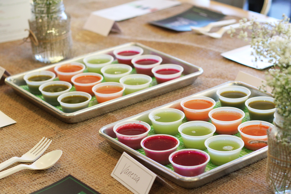 A rainbow of delicious juice options for us to try as part of Freshii's Juice.Cleanse.Energize. program.  Image courtesy Natalie Sorichetti