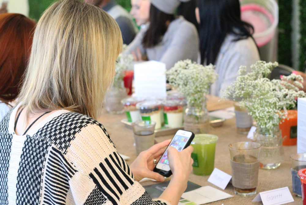 There I am.....likely instagramming away......  I also took a full-sized Mighty Detox juice with me to go because, as I said, it was my fave!  Image courtesy Natalie Sorichetti.
