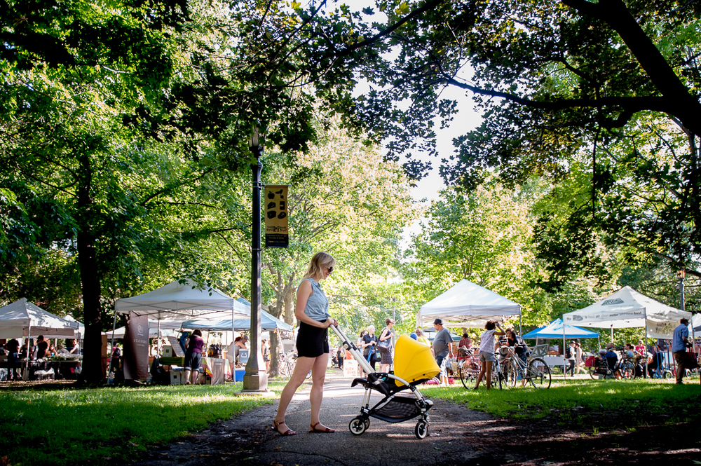 Visiting the Farmer's Market in Trinity Bellwoods Park with our Bee3 is super-easy! It's lightweight, has plenty of underseat storage & is easy to manoeuvre. Photo by Tobias Wang.