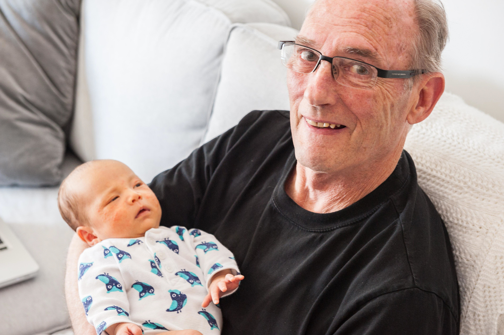Proud Grandpa: my dad with my son Archer in May