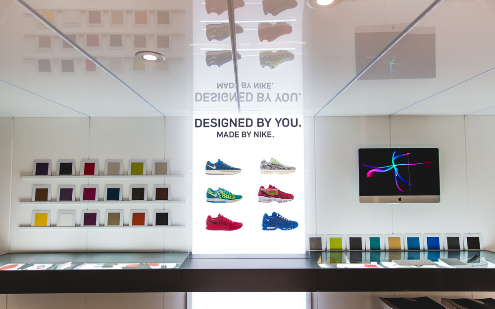 The new Nike iD studio at the Nike Loft in Toronto. Photo courtesy Nike Canada.