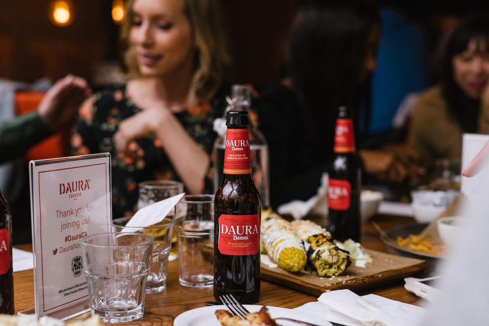 Great food, great friends, and delicious Daura Damm. Delicious options whether you need to avoid gluten or not.   All photos by  Jeffrey Chan  courtesy  Daura Damm .