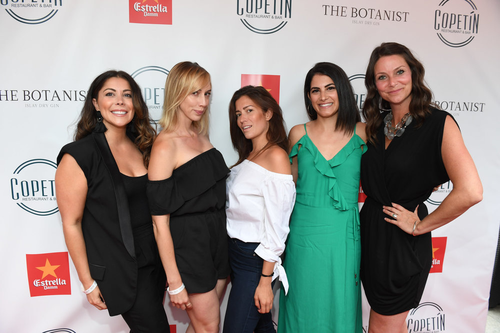 At the Grand Opening of Copetin with Jasmine Baker, Rachel Bies, Julie Miguel, and Jordie McTavish. (Oh, how I wish I had known I was rocking those tan lines. Ugh.) Photo by George Pimentel.