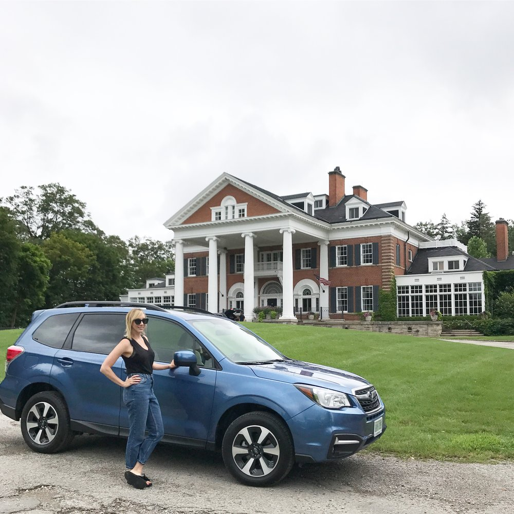 Getting there was half the fun! At Langdon Hall with my 2018 Subaru Forester.
