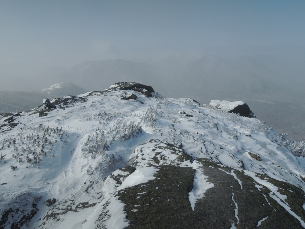 View from the summit of wright peak, adks, Feb 15, 2015