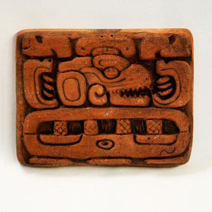 Mayan Facing Right with Teeth