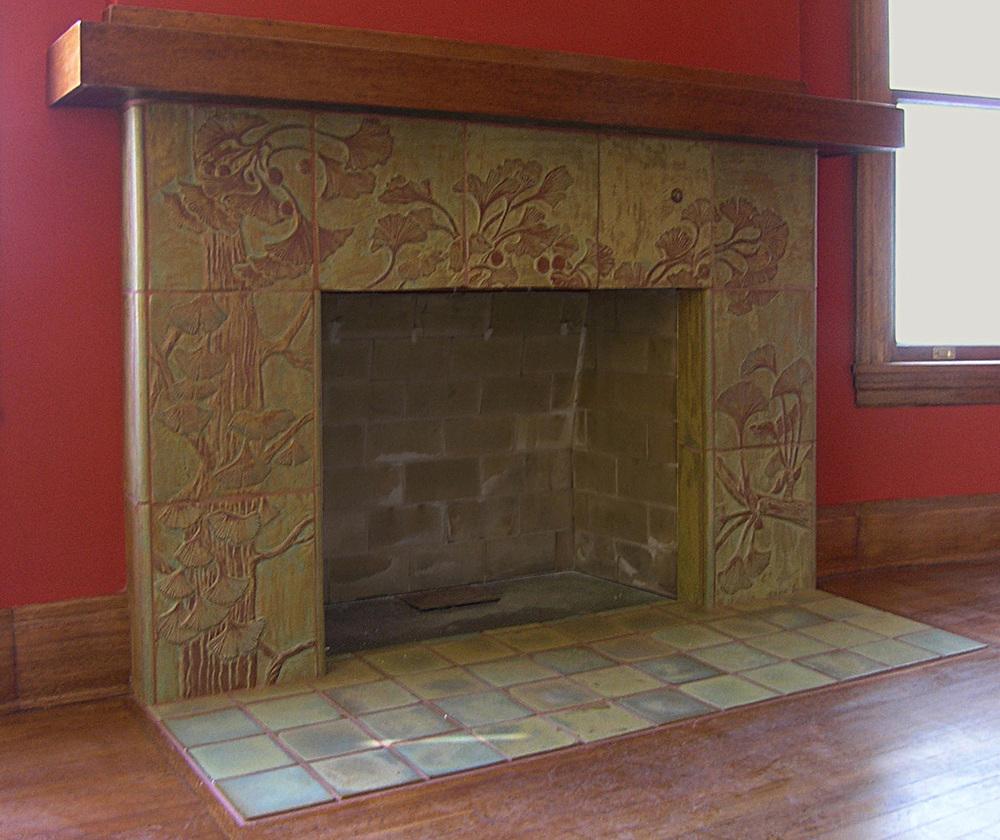 fireplaces pasadena craftsman tile