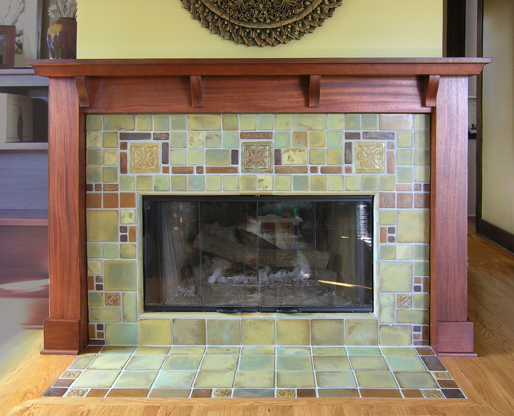 Fireplaces Pasadena Craftsman Tile