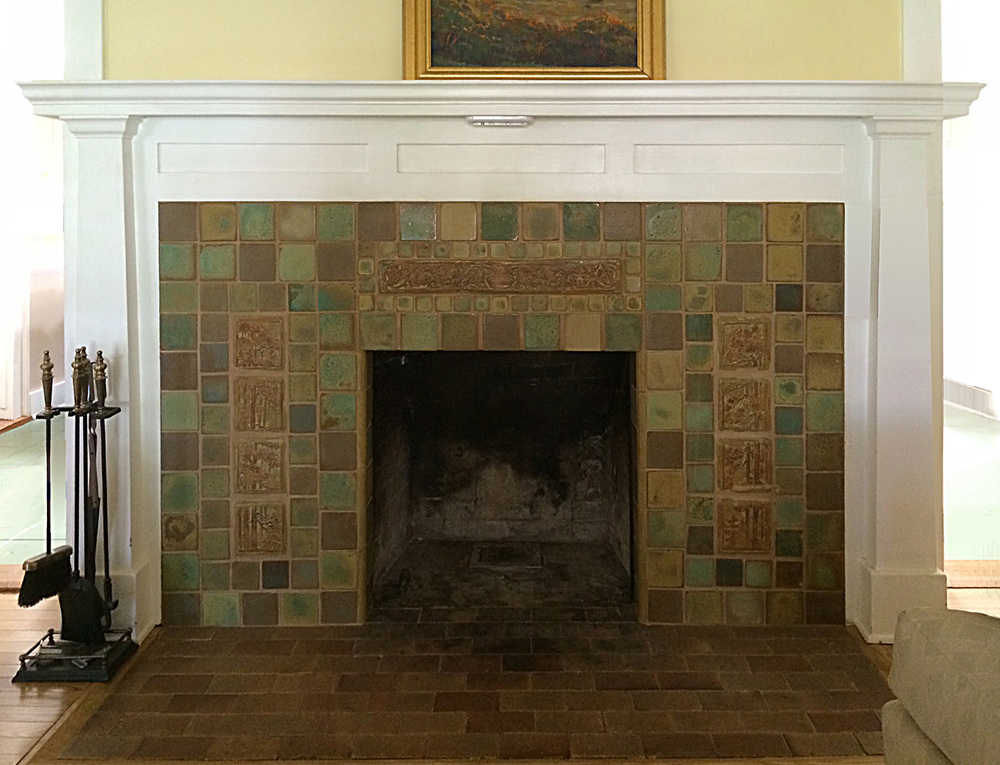 Rose Villa Fireplace