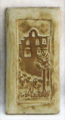 "San Gabriel Mission Vertical - 4""x8"". Designed by Claycraft."