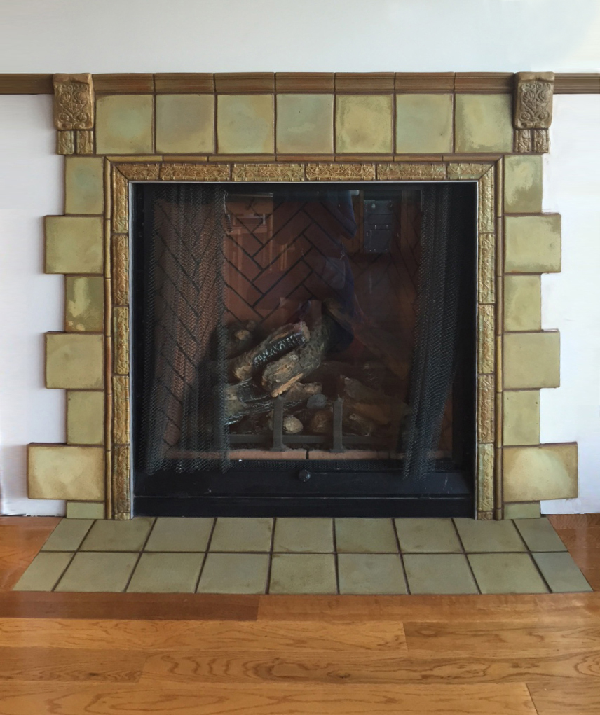 Corbeled Fireplace