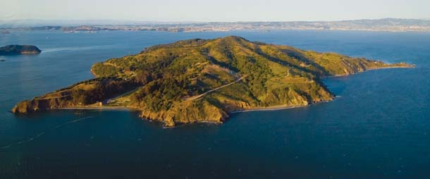 Angel island from the Air - Courtesy of Baynature.org