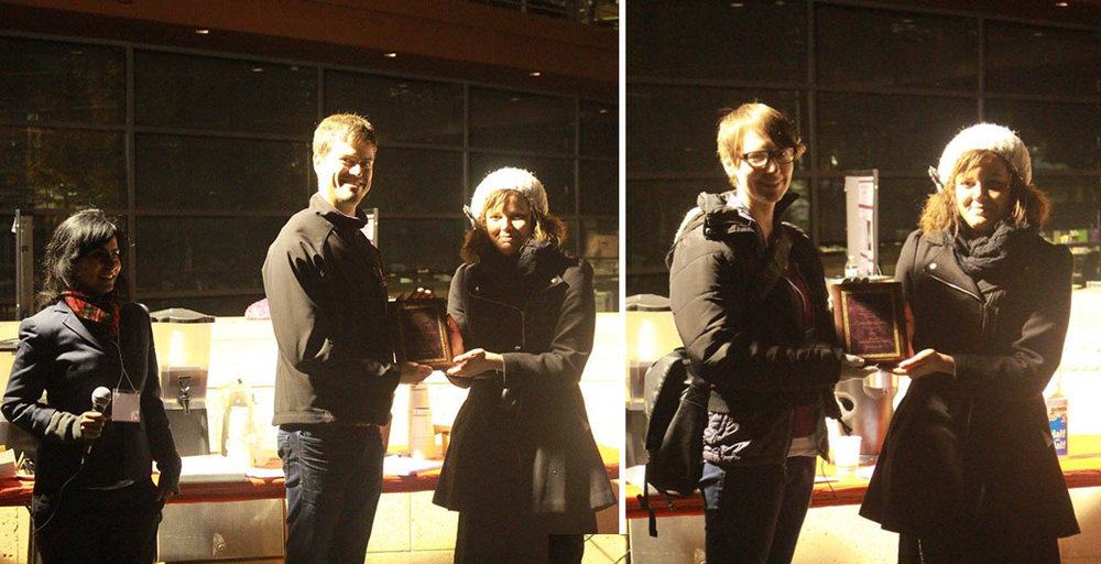 Antoine de Moree and Catherine Gordon were recognized for their contributions and service to the postdoc community