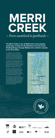 Banner copy and editing | Merri Creek Management Committee