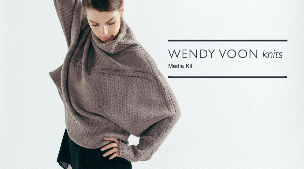 Media kit creation + distribution | Wendy Voon knits