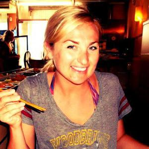 Linds loves sushi in Barcelona