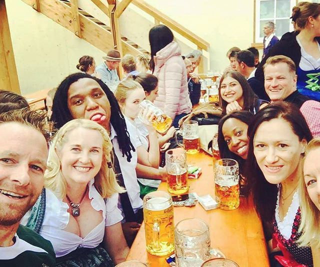 More beers, more friends, more fun! 🍻 #more #beers #oktoberfest2017 #insidermoments #traveltheworld #festival #events #bucketlist #beertent #newfriends #funtimes #from #aroundtheworld