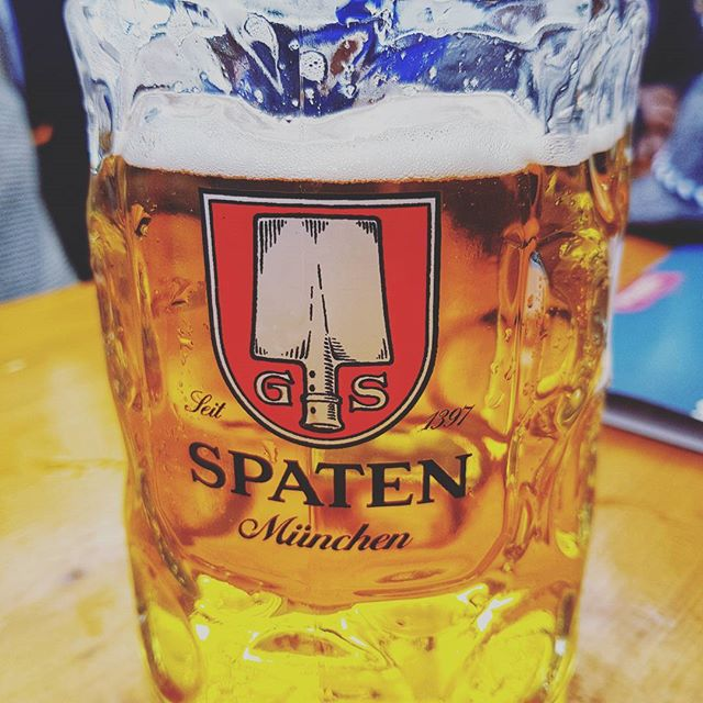 It is all about the beer 🍻 #beer #oktoberfest #stein #spaten #morebeer #traveltheworld #livethedream #onthemove #bucketlist  #beertent