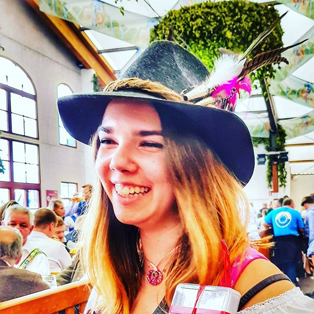 Oktoberfest 2017! 🍻 #hofbrau #beertent #2017 #oktoberfest #hat #munich #tradition #beer #morebeer #bucketlist #traveltheworld